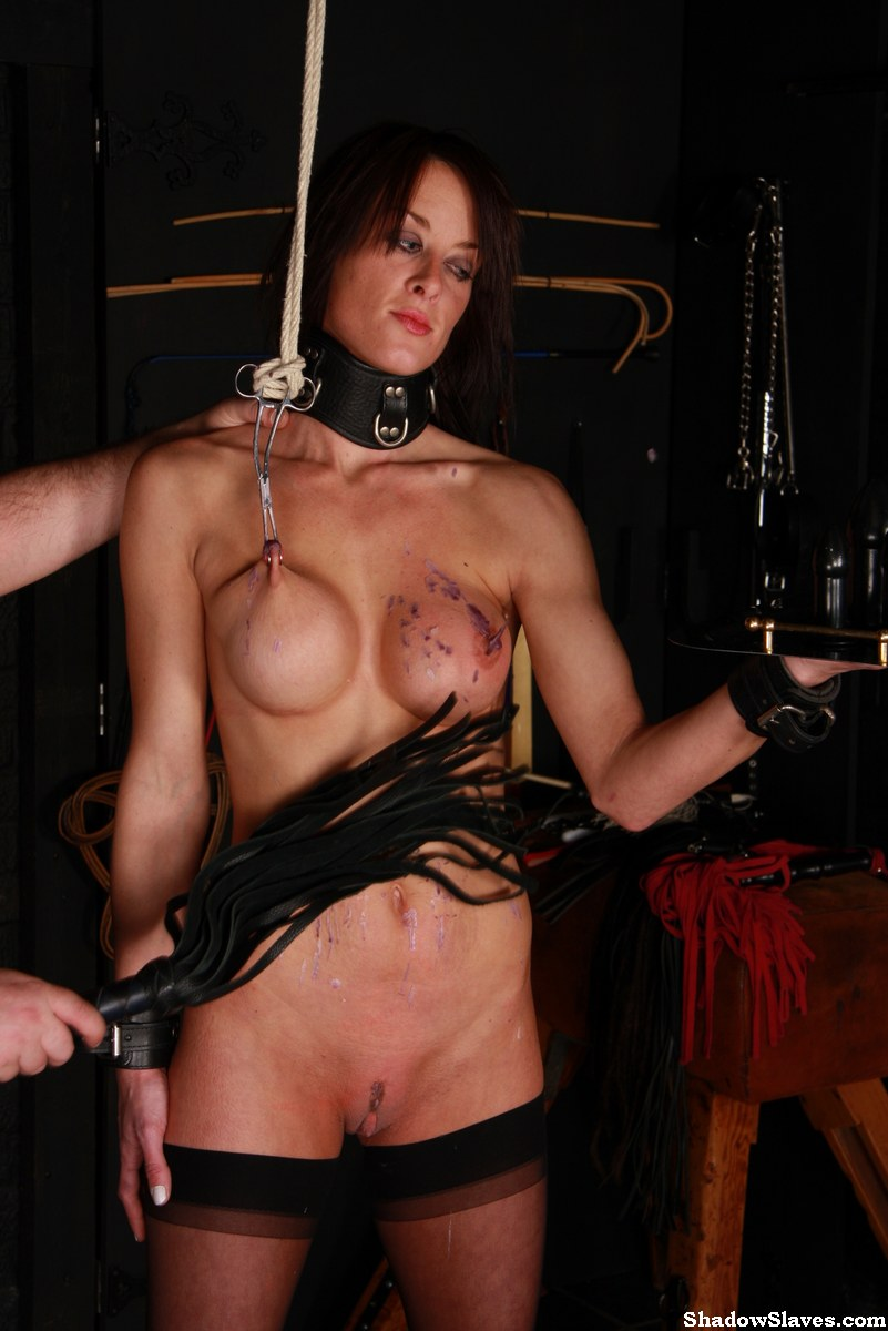 Busty bdsm bondage sub flogged roughly 5